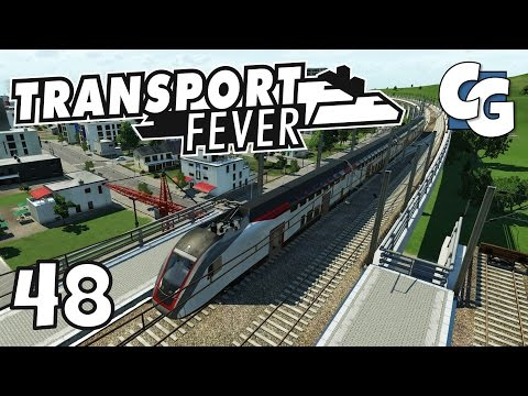 Transport Fever - Ep. 48 - Elevated Train Stations - Transport Fever Gameplay