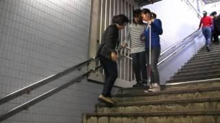 Repeat youtube video 視覚障害者の歩行に関する研修会の様子