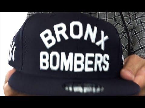 f6b10a39 Yankees 'BRONX BOMBERS SNAPBACK' Black Hat by New Era - YouTube
