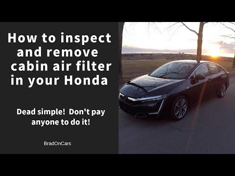 DIY Car Repair and Maintenance - Honda Cabin air filter inspection:replacement