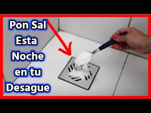 👉No pongas + de 1 cucharada de Sal en tu desagüe, porque con 1 es suficiente para esto!