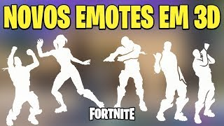 FORTNITE-SEE IN 3D WITH SOUND THE 5 NEW EMOTES | PATCH v 5.40