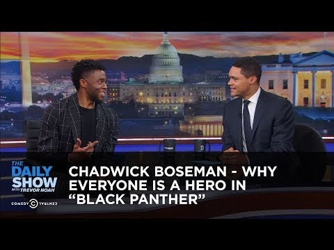 "Chadwick Boseman - Why Everyone Is a Hero in ""Black Panther"" - Extended Interview"
