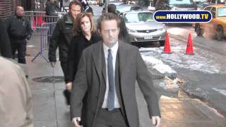 EXCLUSIVE: Matthew Perry Arriving at David  Letterman
