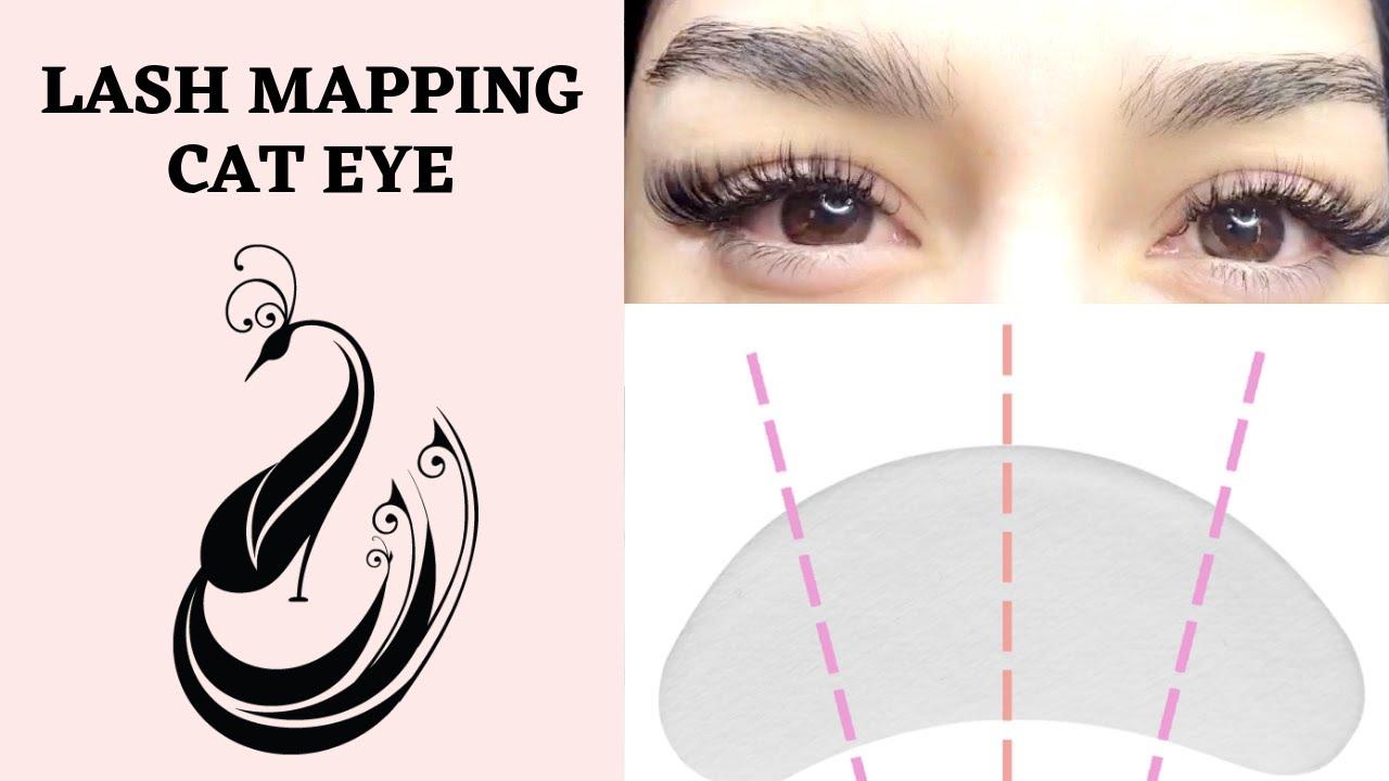 218d5d51e8d Easy Lash Mapping | Cat Eye Shape | Eyelash Extensions 101 - YouTube