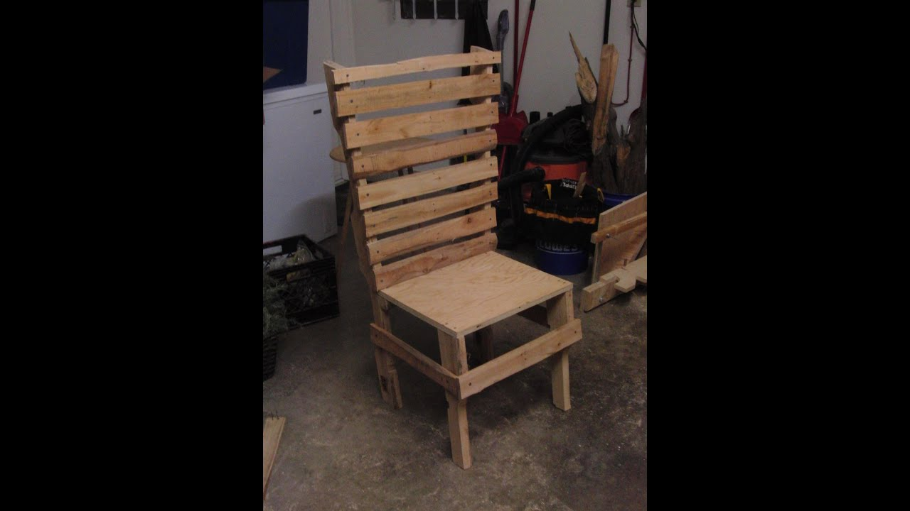 pallet wood chair high straps big w shop made of 1 hour project youtube