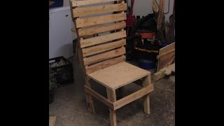 Shop Chair Made Of Pallet Wood! 1 Hour Project