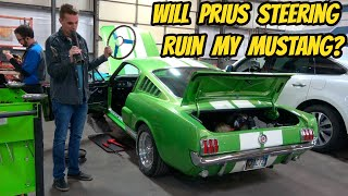 I'm Not Manly Enough To Drive My '66 Mustang, But Prius Electric Power Steering Will Fix That!