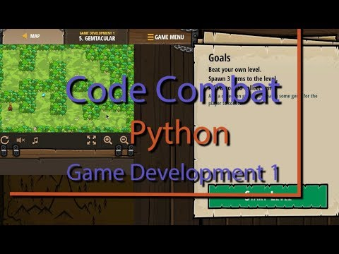 Code Combat Gemtacular Level 5 Python Game Development Tutorial thumbnail