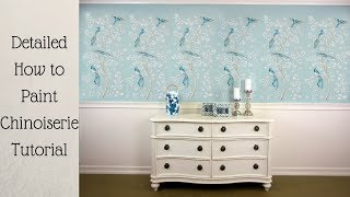 How to Shade A Chinoiserie Wall Stencil