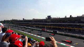 Formula 1 Mexico GP 2015 - El arranque!