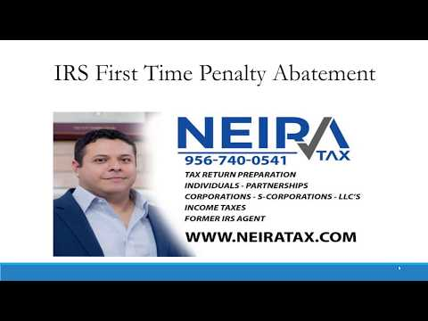 Abate A Penalty From The IRS By Using The First Time Abatement