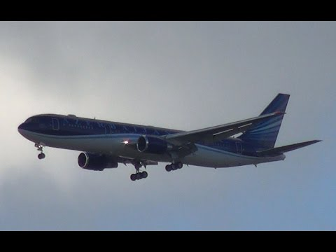 Azerbijan Government Boeing 767 Landing at Amsterdam Airport Schiphol (DutchPlaneSpotter)
