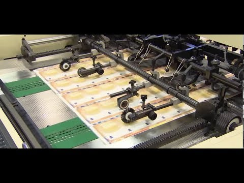 How Money is printed | New Currency Note Printing | 50 Euro Banknote Printing Documentary