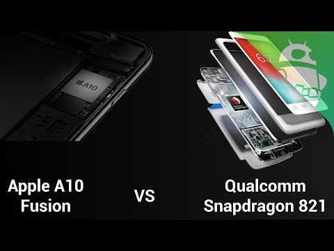 Qualcomm Snapdragon 821 versus Apple A10 Fusion