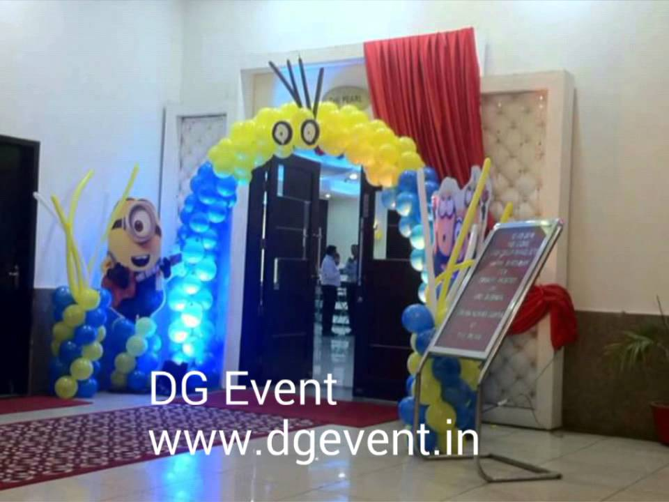 Birthday party decor in Gurgaon Casa bella banquet hall by DG Event