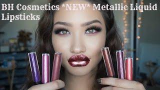 *NEW* BH Cosmetics METALLIC LIQUID LIPSTICKS - Swatches | First Impressions | Review