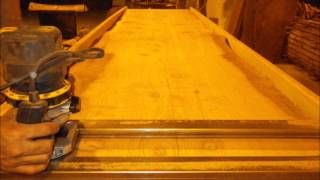 Natural Edge Redwood Table
