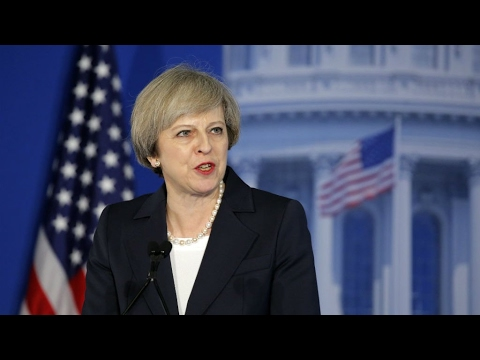 US - 'Sometimes opposites attract,' says May in Philadelphia ahead of Trump talks