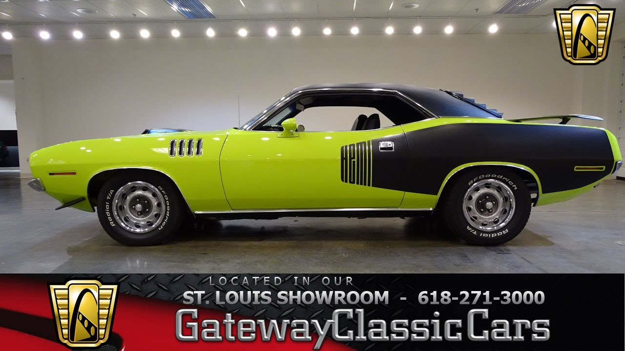 1971 Plymouth Barracuda for sale at Gateway Classic Cars STL - YouTube