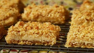 Oatmeal Lemon Bars Recipe Demonstration - Joyofbaking.com