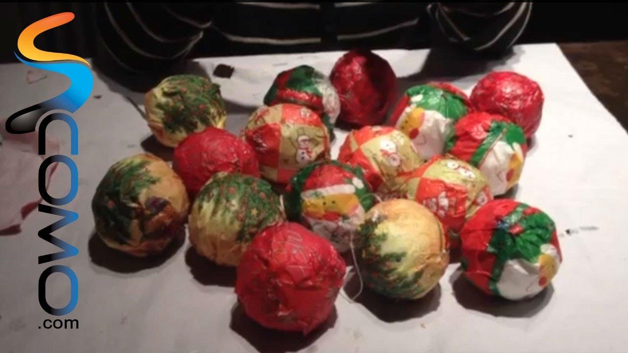 Como hacer bolas del arbol de navidad para ni os youtube - Como hacer bolas para el arbol de navidad ...