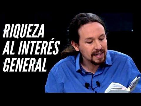 Sobre el art.128 de la Constitución Española que citó Pablo Iglesias | Riqueza al Interés General
