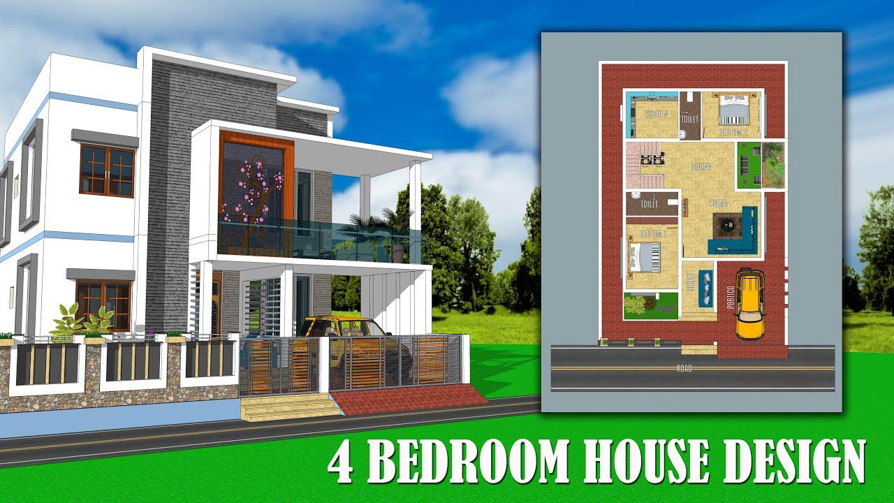 Duplex House Design 4 Bedroom With Floor Plan With Inner Garden With Interior Design Manis Home Youtube