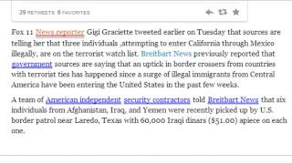 Three Illegals On Terrorist Watch List Detained Crossing Border Into California
