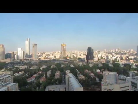 Israel -  view from  Tel Aviv to Ramat Gan, Petah Tikva and the mountains of Samaria