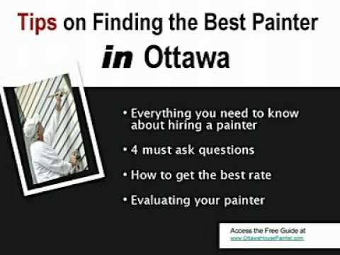 Ottawa House Painters - Learn How To Pick The Right Painter In Ottawa