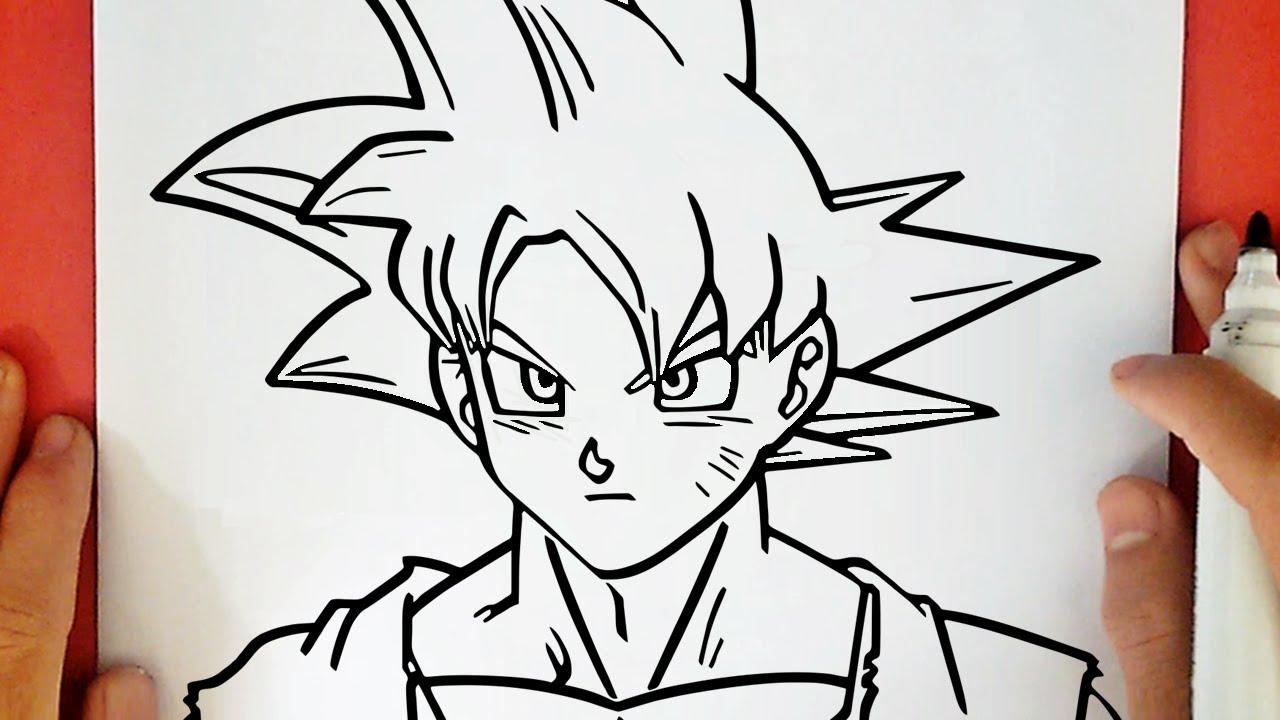 Dibujos Para Colorear De Goku Fase Dios: COMO DIBUJAR A GOKU SSJ DIOS ROJO