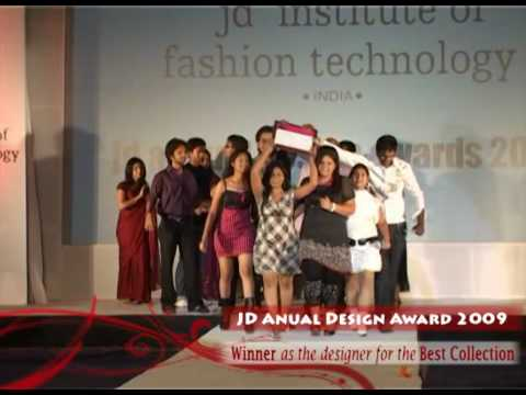 Jd Institute Of Fashion Technology Best Designer Award Karoona Gupta Youtube