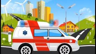 Мультфильмы про машинки - Полицейская машина Скорая помощь Пожарная машина для детей