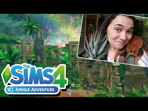 More Waterfalls! Archaeology! And... Arachnids?! 🌿 Sims 4 Jungle Adventure Reaction! 🌿