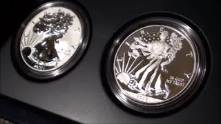 SURPRISE COIN and CURRENCY PACKAGE from COIN MASTER - American Eagle West Point Two-Coin Silver Set