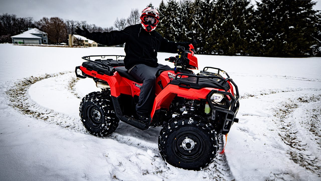 Tearing Up Fresh Snow With The New Polaris 570! (Fun Times!)