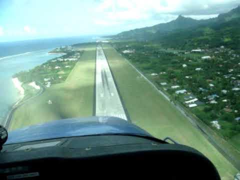 Cook Islans landing at Rarotonga airport