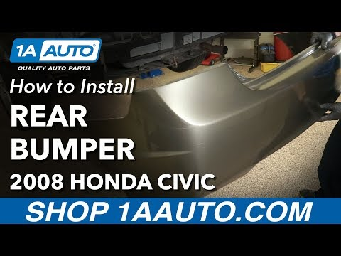How to Replace Rear Bumper 05-11 Honda Civic
