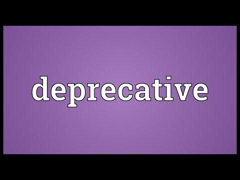 Header of deprecative