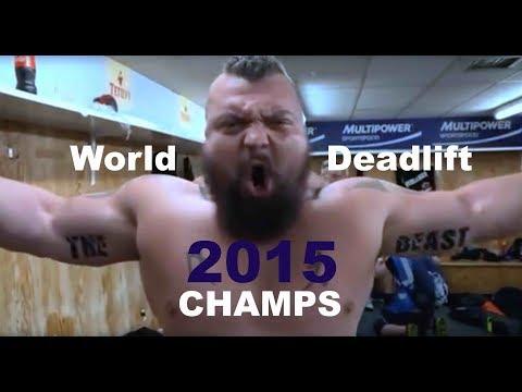 FULL SHOW   World Deadlift Champs 2015, inc World Record Deadlift by Eddie Hall