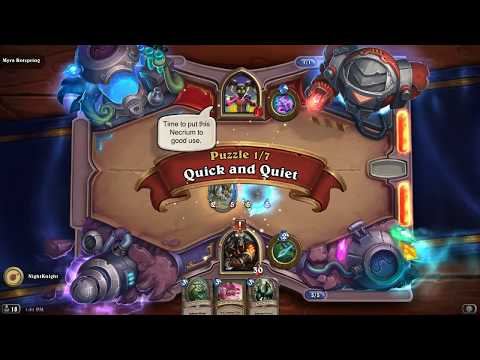 Lethal Puzzle Solutions | Hearthstone Puzzle Labs Myra Rotspring