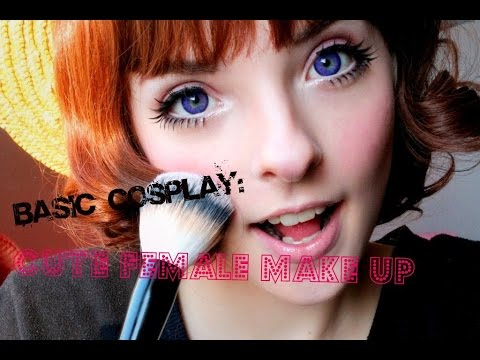 Cosplay Basics: Cute Female Makeup tutorial - YouTube