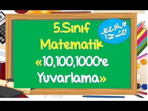 5.Sınıf Matematik Doğal Sayılarda Yuvarlama-Yardımcı Öğretmen