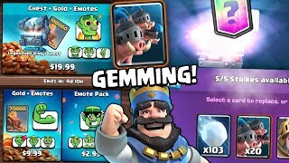 GEMMING NEW ROYAL HOGS CARD & BUYING ALL NEW EMOTES! | Clash Royale  | BEST ROYAL HOG DECKS??