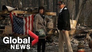 President Trump surveys areas impacted by California wildfires