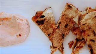 BBQ Onion Quesadilla recipe by SAM THE COOKING GUY