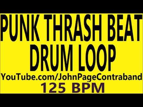 Punk Thrash Drum Loop beat 125 BPM Slow Gallop