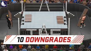 WWE 2K18 Top 10 downgrades (how the game has gotten worse)
