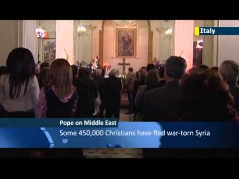 Pope Francis tells Arab Christians: Vatican will not resign itself to Middle East without Christians